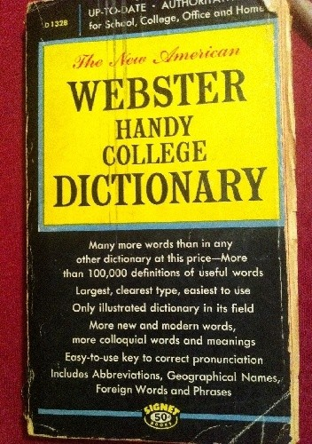 Okładka książki The New American Webster Handy College Dictionary