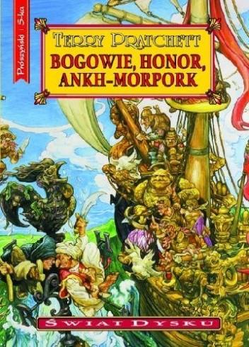 Okładka książki Bogowie, honor, Ankh-Morpork
