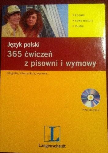 Okładka książki Język polski 365 ćwiczeń z pisowni i wymowy