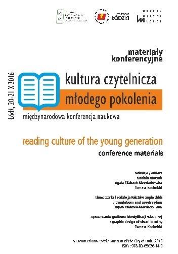 Okładka książki Kultura czytelnicza młodego pokolenia. Międzynarodowa konferencja naukowa