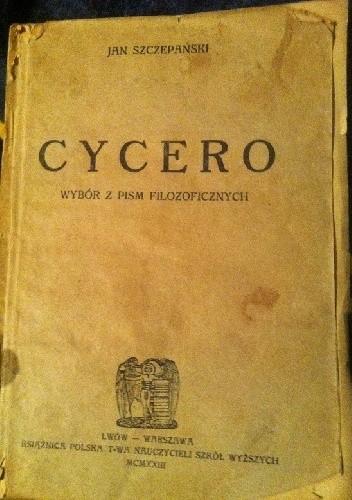 Okładka książki Cycero wybór pism filozoficznych.