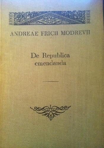 Okładka książki De Republica emendanda