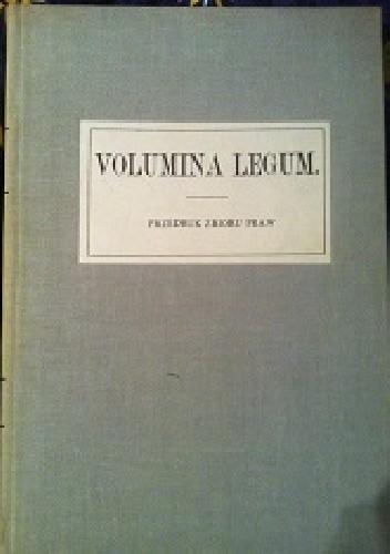 Okładka książki Volumina Legum Przedruk zbioru praw TOM III.