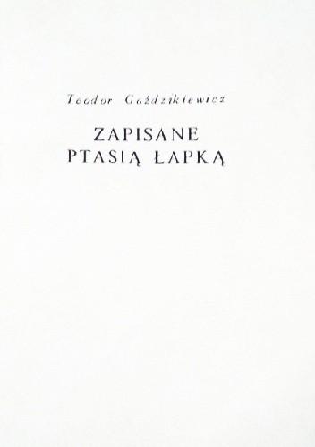 Okładka książki Zapisane ptasią łapką