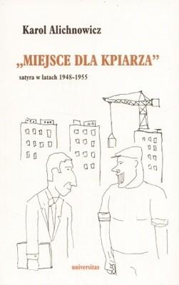"""Okładka książki """"Miejsce dla kpiarza"""". Satyra w latach 1948-1955"""