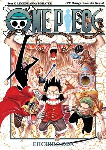 Okładka książki One Piece tom 43 - Legendarny bohater