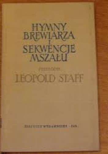 Okładka książki Hymny brewiarza i sekwencje mszału