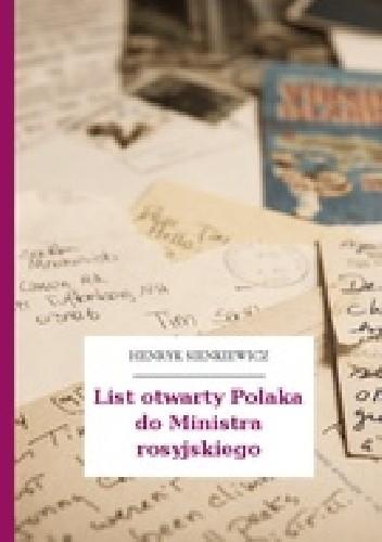Okładka książki List otwarty Polaka do Ministra Rosyjskiego