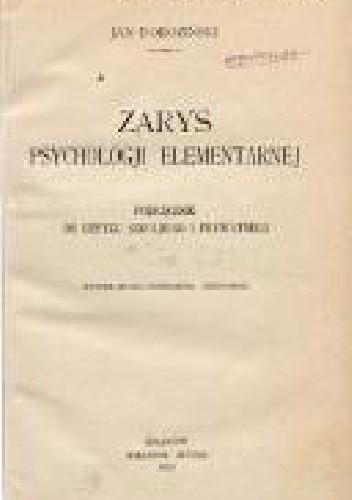 Okładka książki Zarys psychologii elementarnej