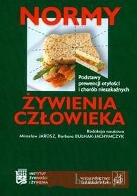 Okładka książki Normy żywienia człowieka Podstawy prewencji otyłości i chorób niezakaźnych