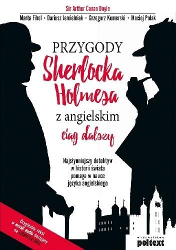 Okładka książki Przygody Sherlocka Holmesa z angielskim ciąg dalszy