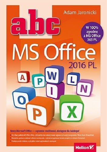 Okładka książki ABC MS Office 2016 PL