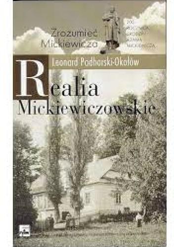 Okładka książki Realia mickiewiczowskie