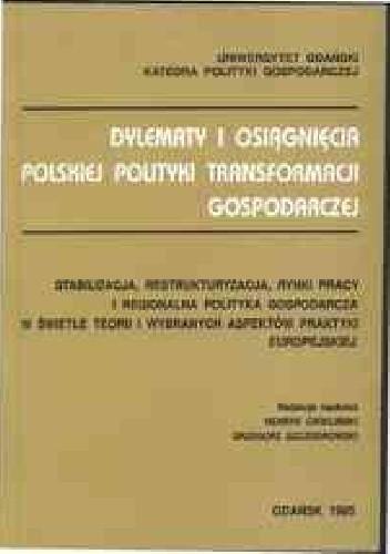Okładka książki Polityka gospodarcza okresu transformacji