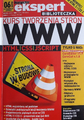 Okładka książki Kurs tworzenia stron WWW + CD Komputer Świat Ekspert 6/2010