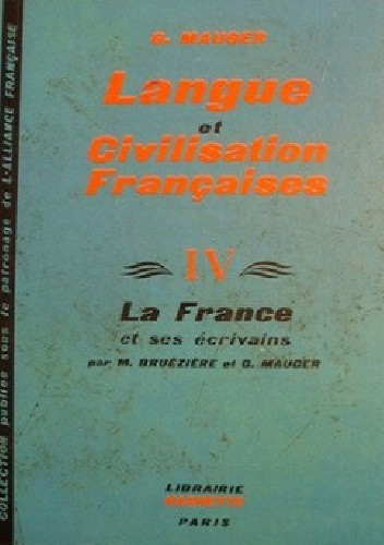 Okładka książki Langue et Civilisation Françaises