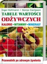 Okładka książki Tabele wartości odżywczych Kalorie, witaminy, minerały. Przewodnik po zdrowym żywieniu - Hofmann Inge , Carlsson Sonja