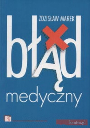 Okładka książki Błąd medyczny