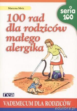 Okładka książki 100 rad dla rodziców małego alergika