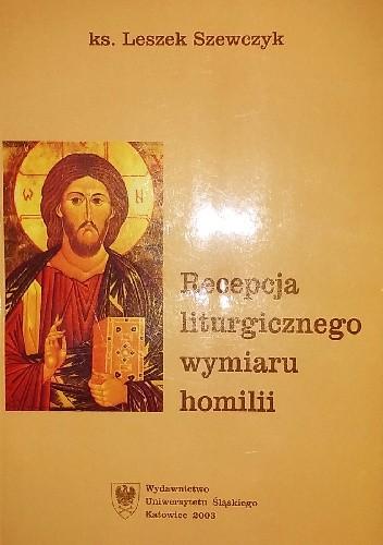 Okładka książki Recepcja liturgicznego wymiaru homilii