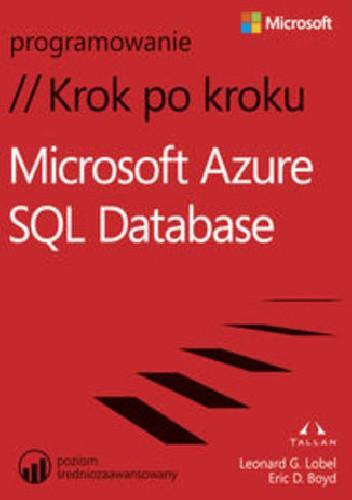 Okładka książki Microsoft® Azure™ SQLDatabase. Krok po kroku
