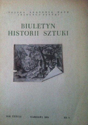 Okładka książki Biuletyn historii sztuki nr 3 rok XXXVIII