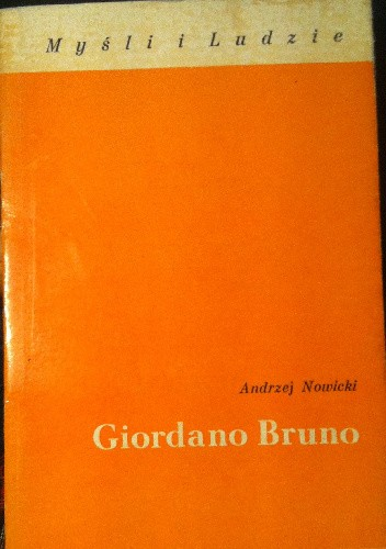 Okładka książki Giordano Bruno