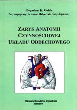 Okładka książki zarys anatomii czynnościowej układu oddechowego.