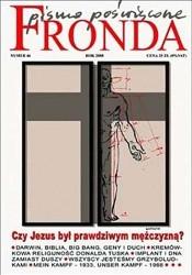 Okładka książki Fronda nr 46 Wielkanoc 2008. Czy Jezus był prawdziwym mężczyzną?