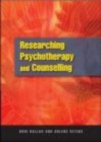 Okładka książki Researching psychotherapy and counselling