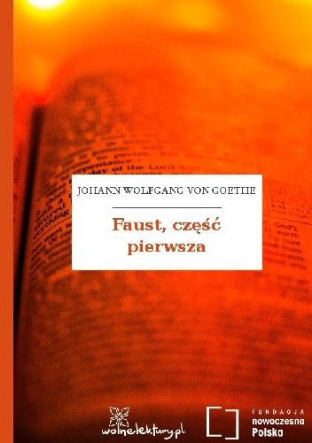 Okładka książki Faust, część pierwsza