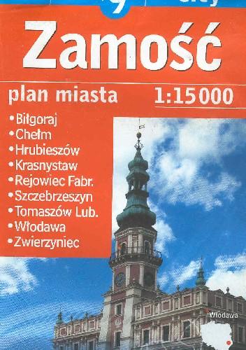 Okładka książki Zamość + 9 city. Plan miasta