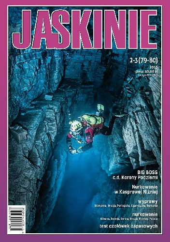 Okładka książki Jaskinie 2-3/2015