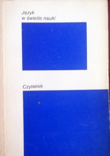 Okładka książki Język w świetle nauki
