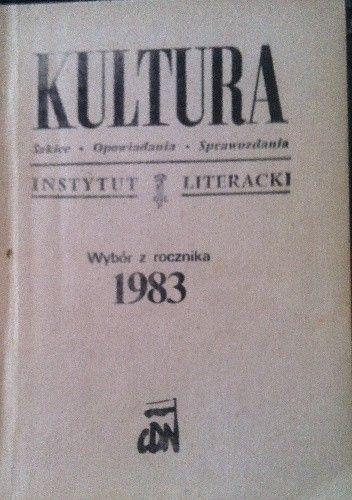 Okładka książki Kultura Wybór z rocznika 1983