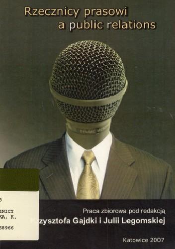 Okładka książki Rzecznicy prasowi a public relations