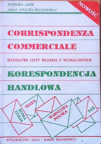 Okładka książki Corrispondenza commerciale Korespondencja handlowa