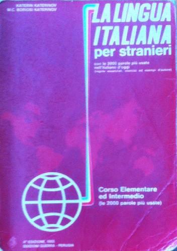 Okładka książki La lingua italiana per stranieri