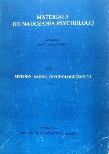 Okładka książki Metody badań psychologicznych