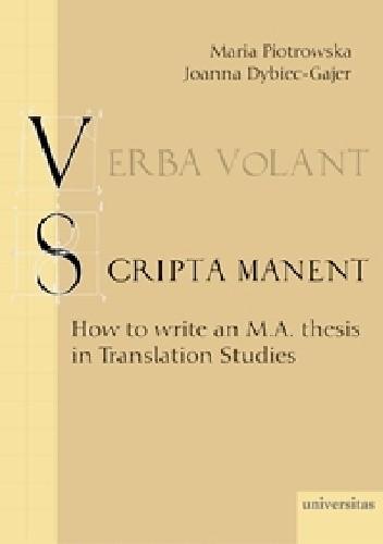 Okładka książki Verba volant, scripta manent