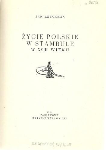 Okładka książki Życie polskie w Stambule w XVIII wieku