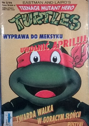 Okładka książki Teenage Mutant Hero Turtles 2/1994
