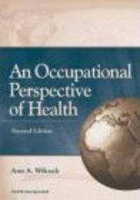 Okładka książki Occupational Perspective of Health