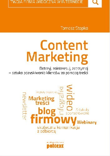 Okładka książki Content Marketing