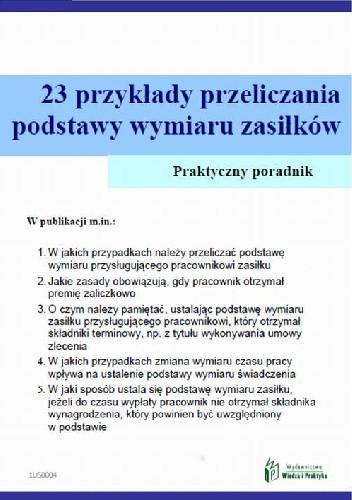 Okładka książki 23 przykłady przeliczania podstawy wymiaru zasiłków