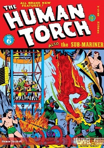 Okładka książki Human Torch #6