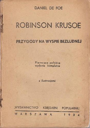Okładka książki Robinson Krusoe. Przygody na wyspie bezludnej