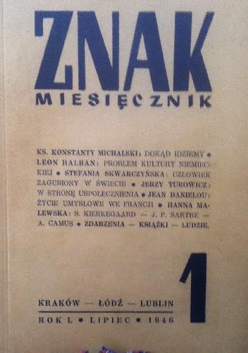 Okładka książki Znak nr 1