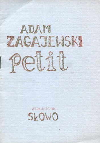 Okładka książki Petit