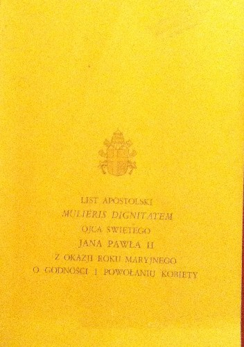 Okładka książki Mulieris dignitatem